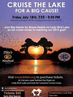 poster for Big Hearts for Brave Hearts boat cruise 2014