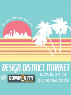 Design District Market at Community Beer Company