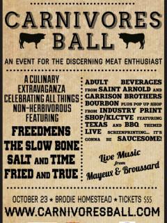 poster Carnivores Ball 2014