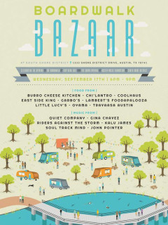 poster Boardwalk Bazaar at South Shore District 2014