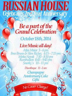 Russian House Second Year Anniversary Poster