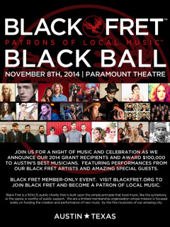 Black Fret Inaugural Black Ball November 2014