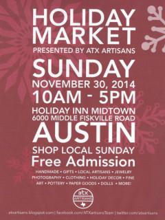 ATX Artisans Holiday Market 2014