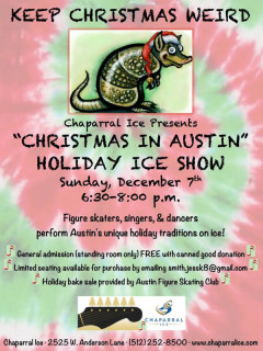 Chaparral Ice - Christmas in Austin Poster - December 2014
