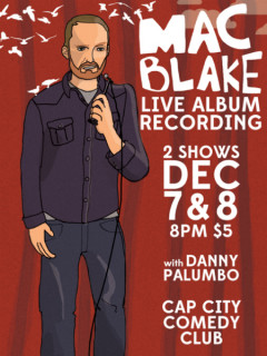 Mac Blake Live CD Recording Poster CROPPED - Cap City Comedy Club - December 2014