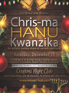 "The Mosaic Hub presents ""Chris-ma-Hanu-Kwanzika"""