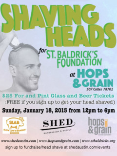 Hops & Grain_Shaving Heads for St. Baldrick's_SHED Barbershop_January 2015