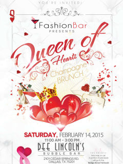 Fashion Bar presents Queen of Hearts Champagne Brunch