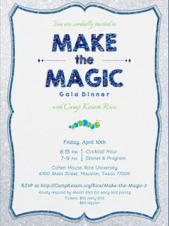 """Make the Magic"" benefiting Camp Kesem at Rice University"