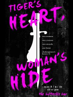 Tiger's Heart, Woman's Hide_The Vortex_Stephanie Donowho_Nell McKeown_2015