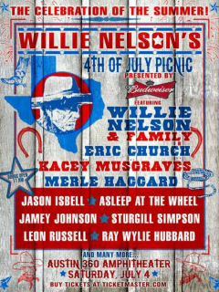 Willie Nelson 4th of July Picnic Austin Circuit of the Americas 2015