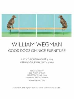 William Wegman: Good Dogs On Nice Furniture