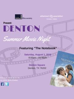 Denton Summer Movie Night: The Notebook