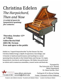 Christina Edelen: The Harpsichord, Then and Now