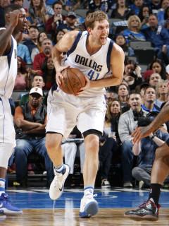 Dirk Nowitzki of the Dallas Mavericks