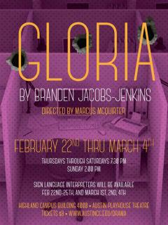 ACC Drama Department presents <i>Gloria</i>
