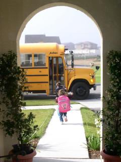 News_First day of school_bus_children