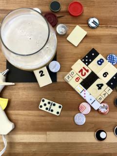 ATX Creative Reuse Adult Craft Night: Game Piece Coasters