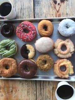 Morningstar coffee and doughnuts