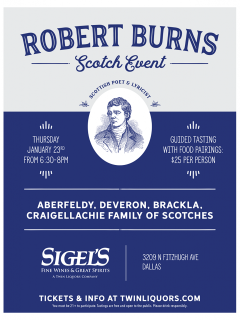 Robert Burns Scotch Event
