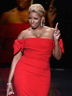 Nene Leakes in Dolce and Gabbana at the Heart Truth Red Dress Collection 2014 show