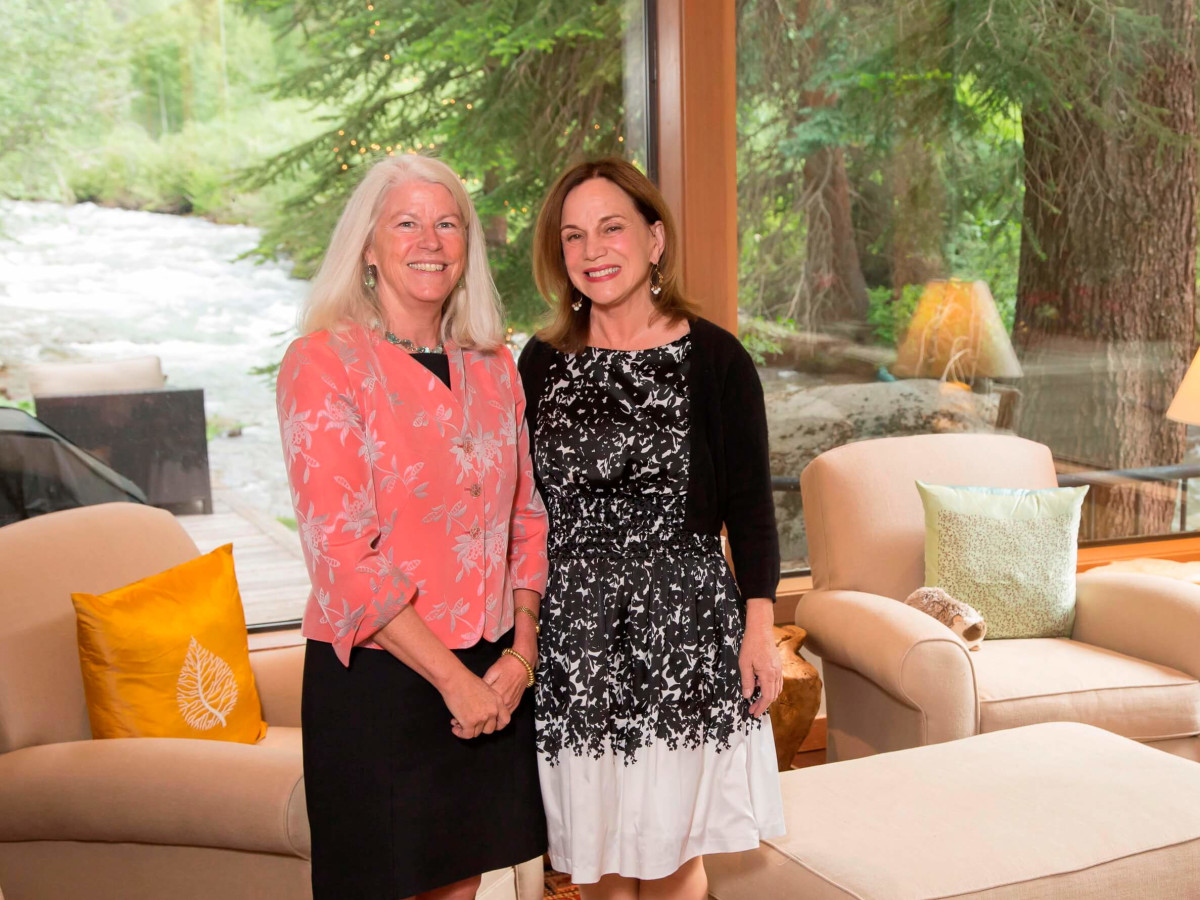 Houston PBS in Aspen, June 2016, Janet Clark, Renee Montague