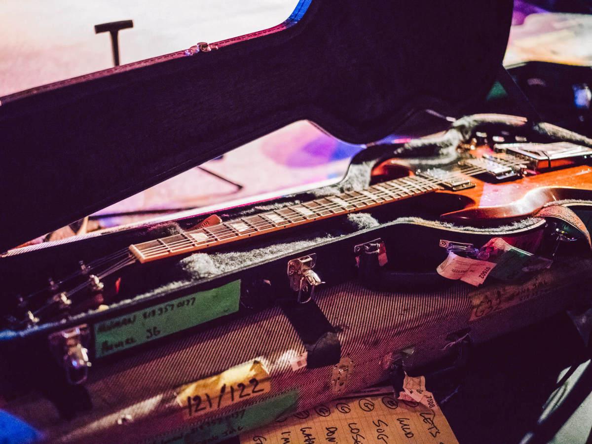 Gary Clark Jr. Antone's show guitar in case