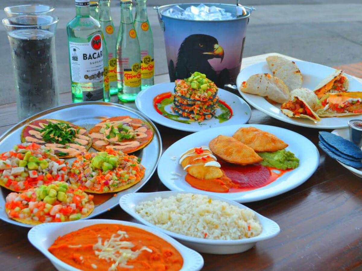 Costa Pacifica restaurant San Antonio seafood spread
