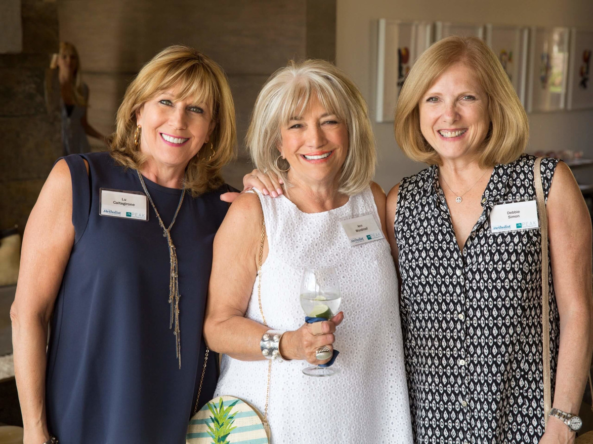 Houston Methodist in Aspen, July 2016, Lu Caltagirone, Ann Woodroof, Debbie Simon
