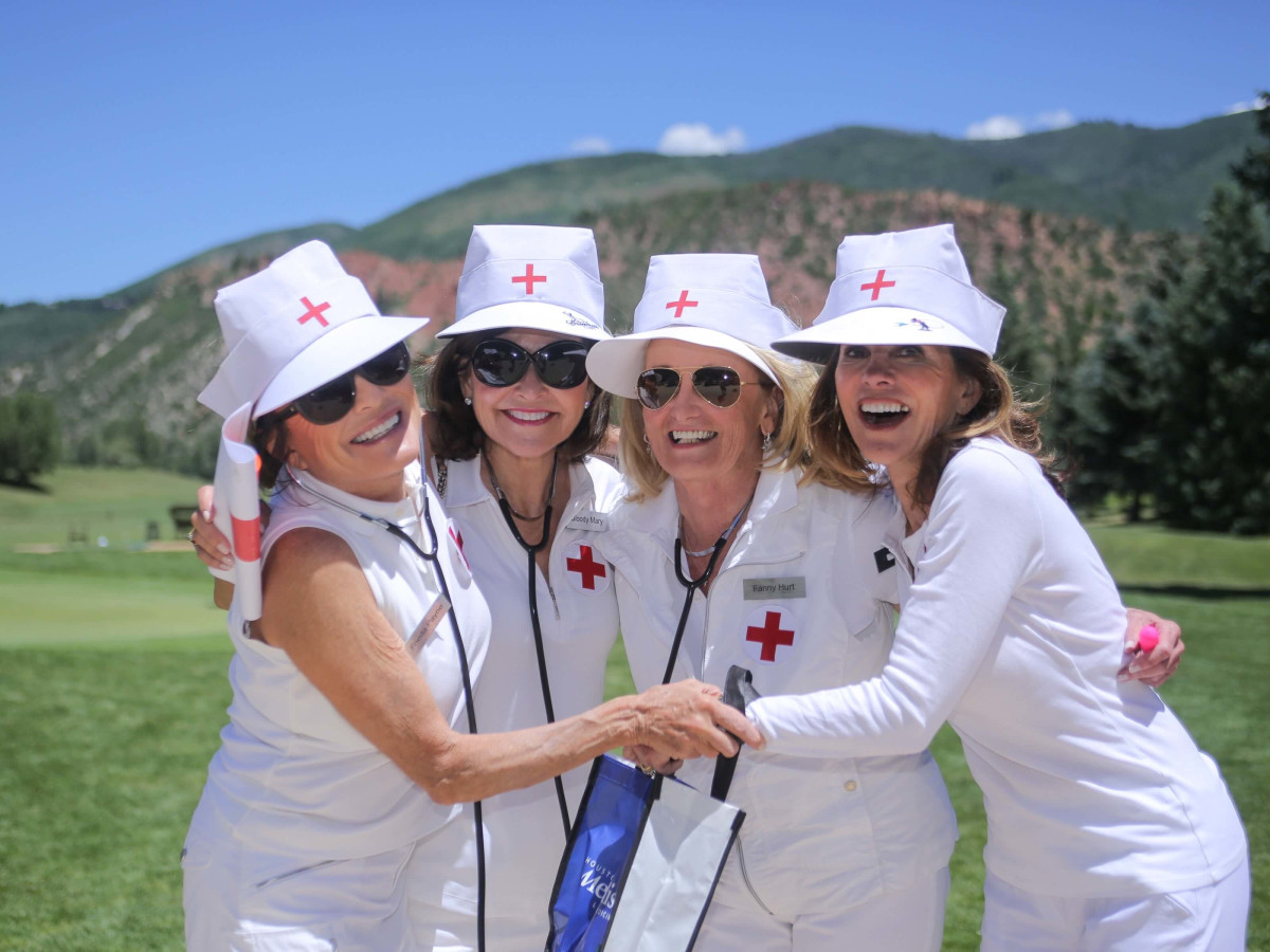 Houston Methodist in Aspen, July 2016, Paula Loud, Marie O'Neil, Denise Monteleone, Dathel Coleman