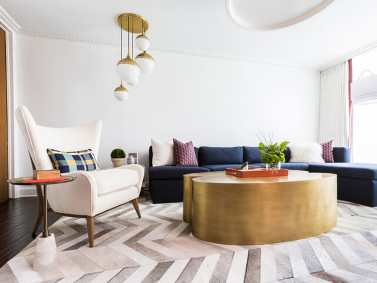 Houzz Houston house home 1960s London Texas style living room midcentury modern