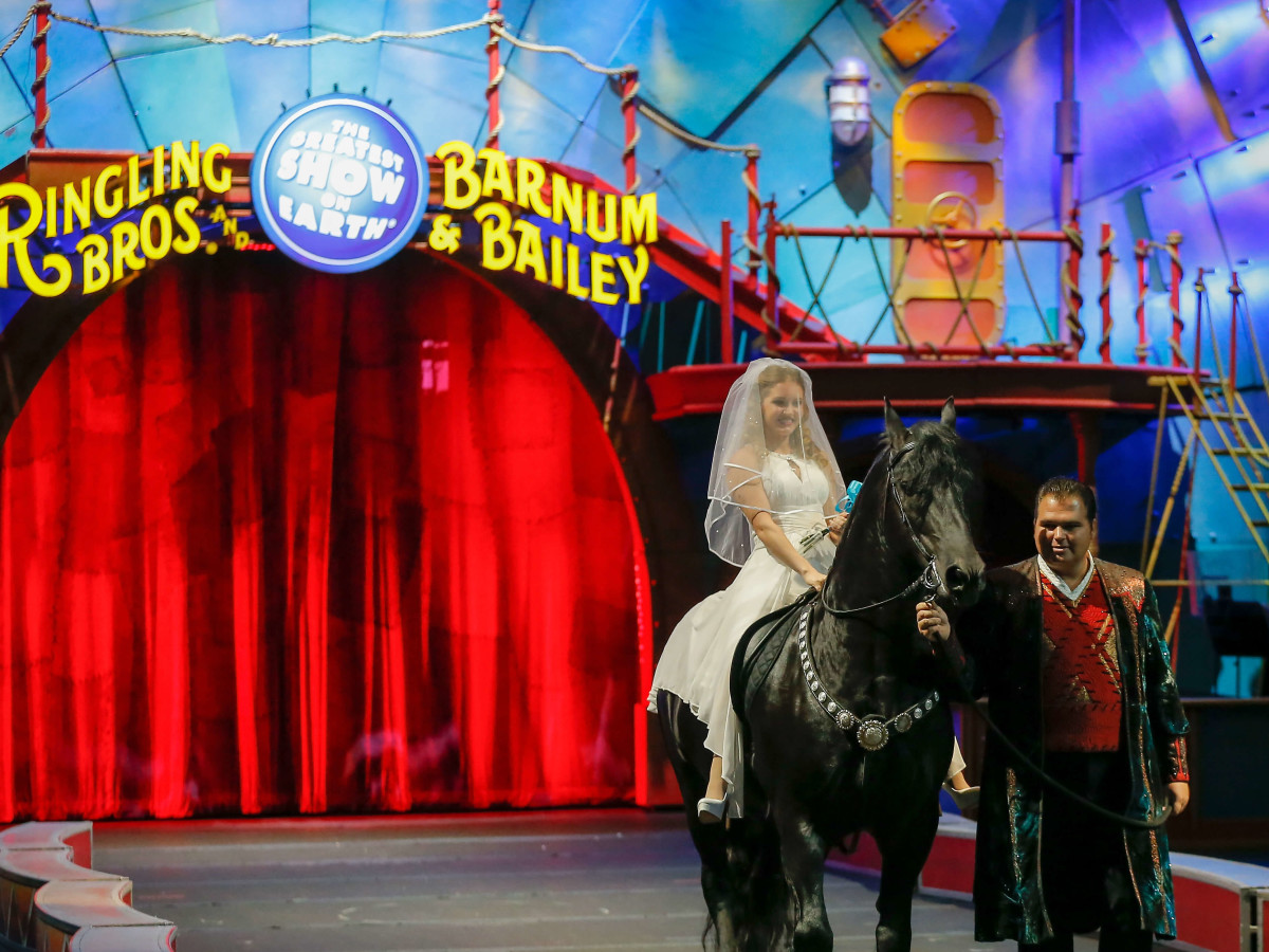 Ringling Bros. wedding,  Anna Lebedeva,, July 2016
