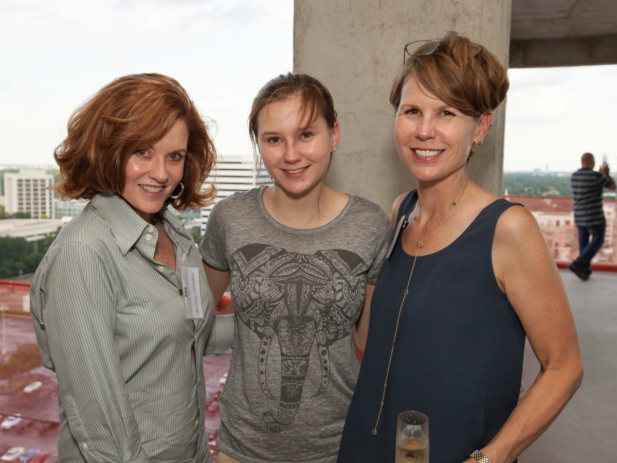 Wilshire Topping Out, July 2016, Katina Pontikas, Kate Habich, Kristen Habich