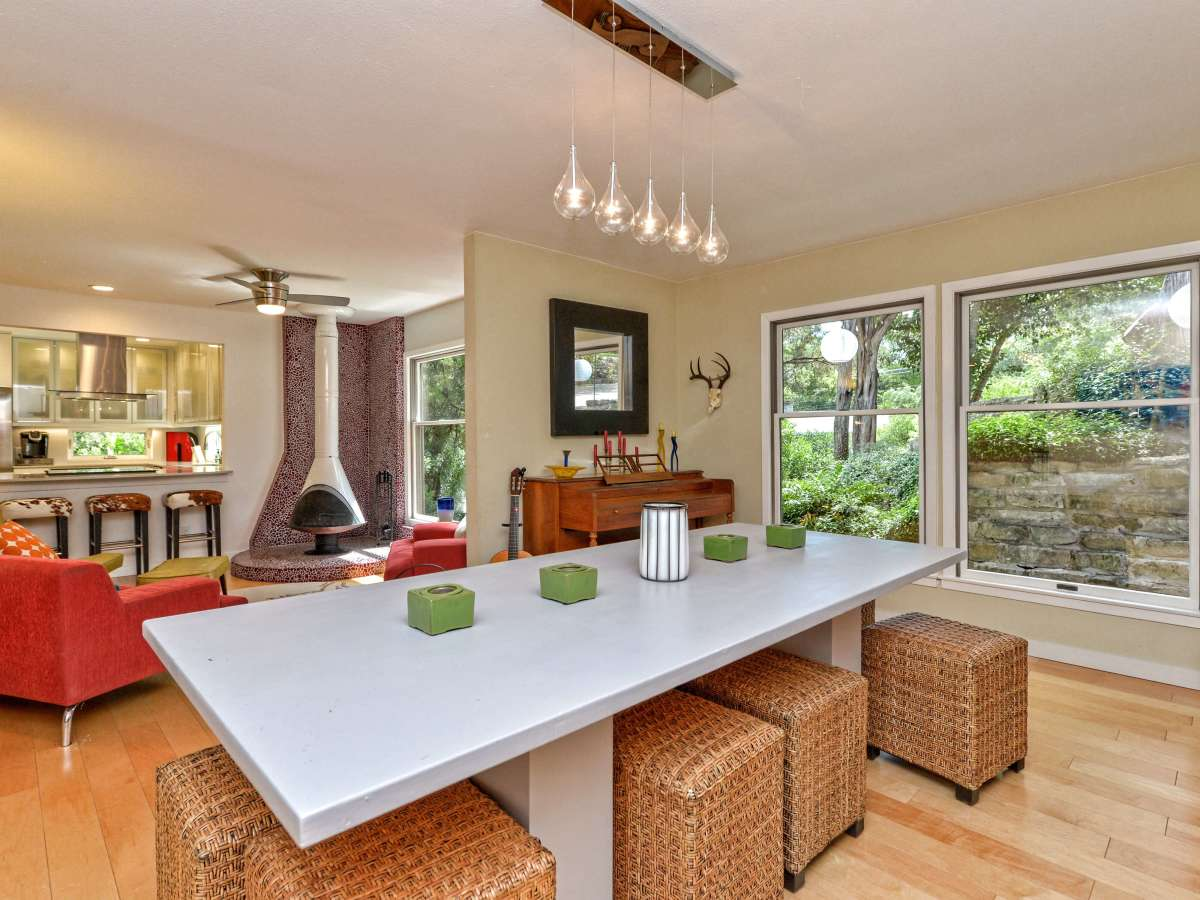 Austin home house 5932 Highland Hills Dr 78731 dining room