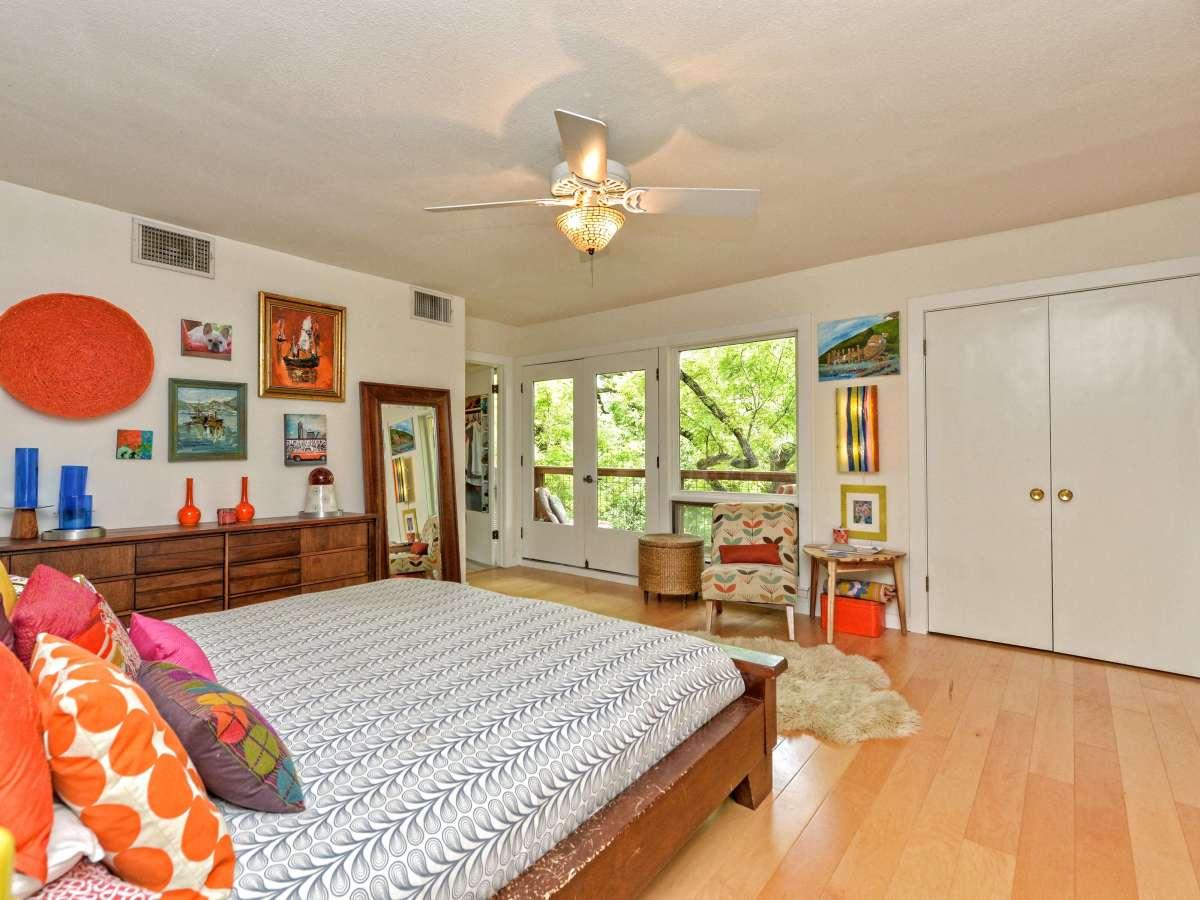 Austin home house 5932 Highland Hills Dr 78731 master bedroom