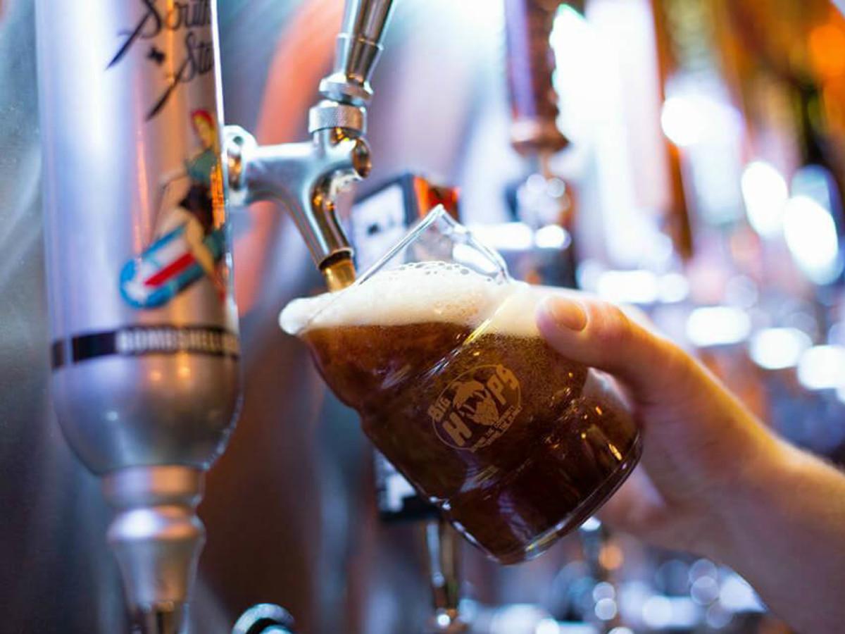 Big Hops bar pub growler stsation San Antonio
