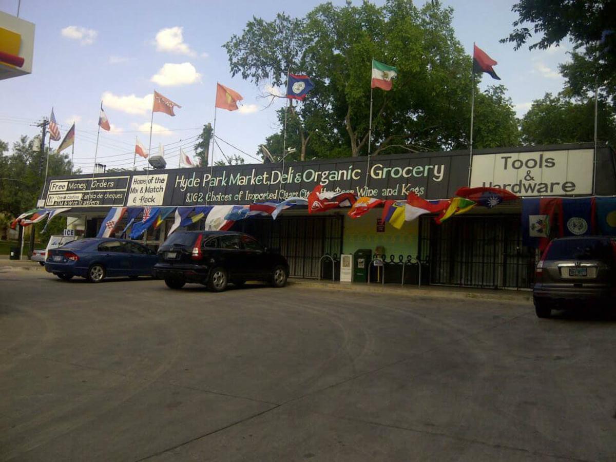 Hyde Park Market flag store