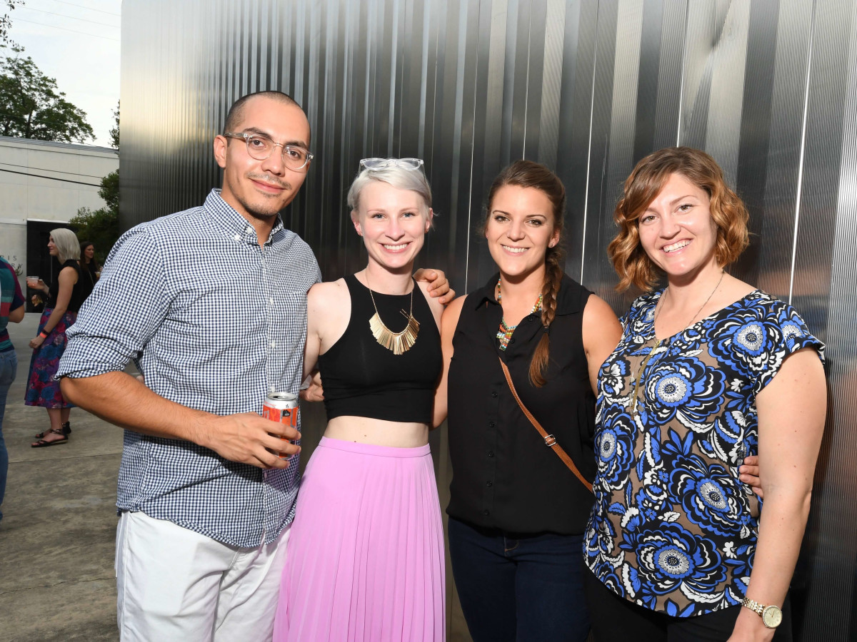 Contemporary Arts Museum YPs, 8/16, Marcos Hernandez, Ara Griffith, Anna Ahlstrom, Aislyn Barclay