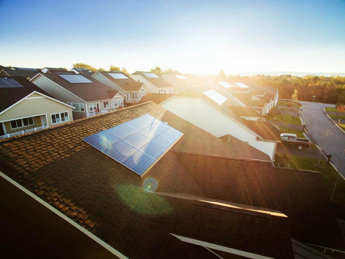 SolarCity solar panel house