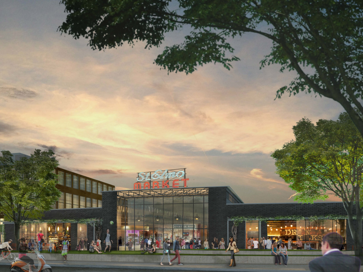 Saint Elmo Public Market rendering South Austin 2015