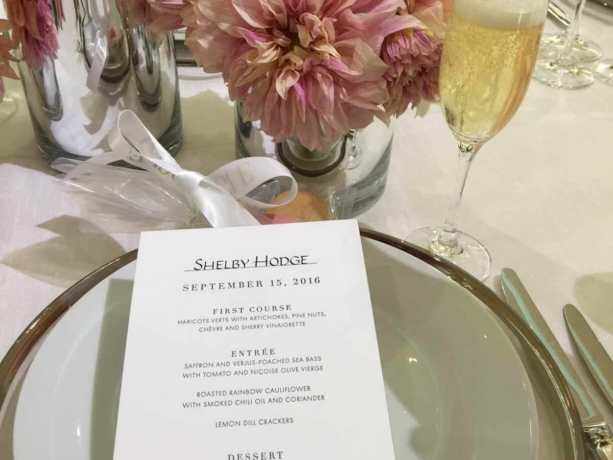 Vogue, Louis Vuitton lunch, 9/26 menu