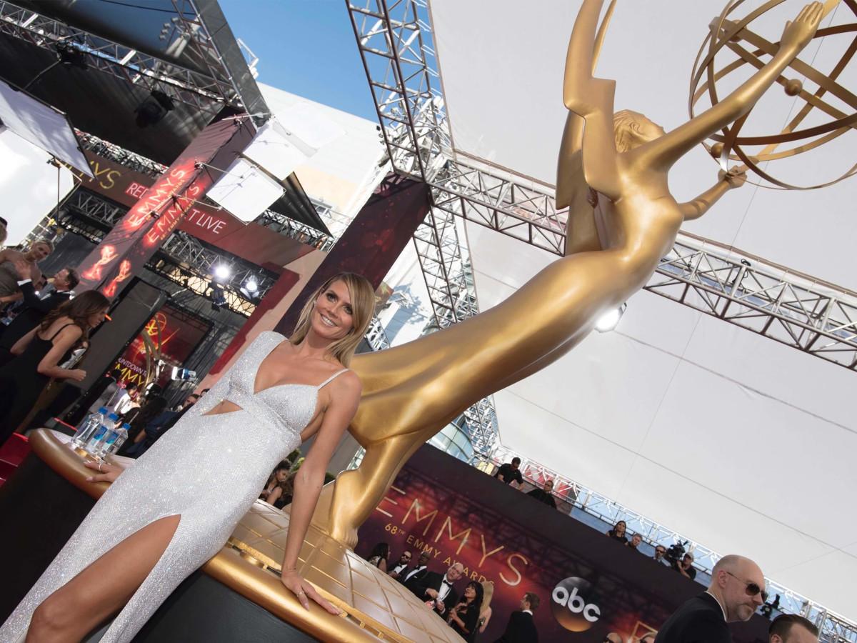 Heidi Klum in Michael Kors gown at Emmy Awards