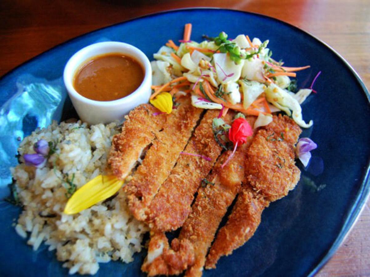 Swift's Attic tori katsu dish restaurant