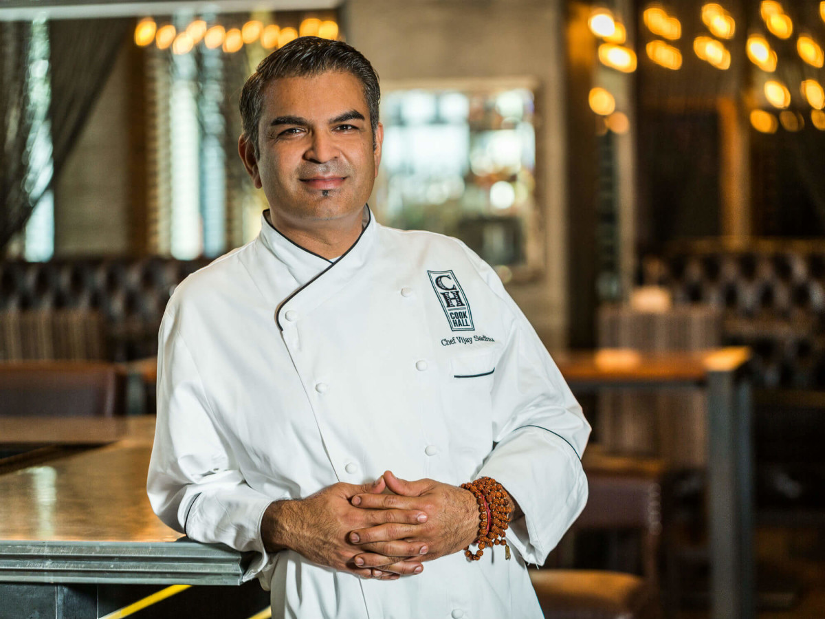 Chef Vijay Sadhu of Cook Hall restaurant in Dallas