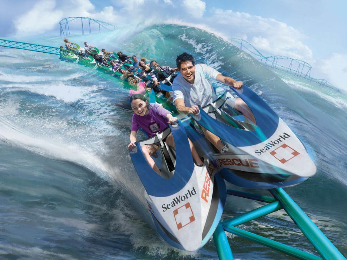 Wave Breaker The Rescue Coaster roller coaster SeaWorld San Antonio rendering