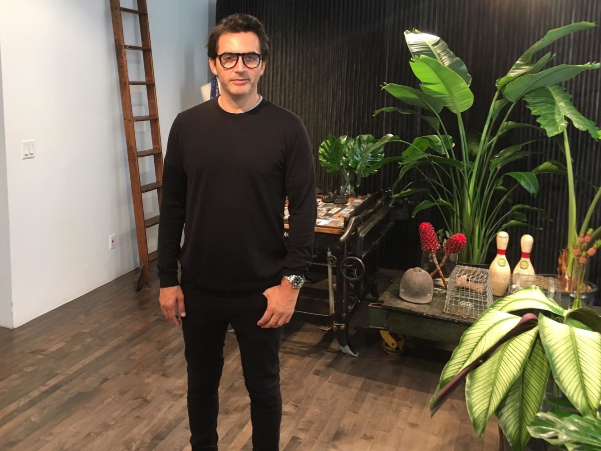 Yigal Azrouel in his studio