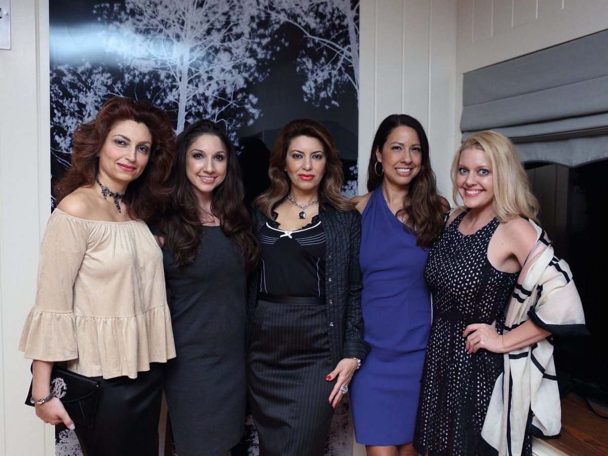 Lee Hilling event, 9/16 Mahzad Mohajer, Jill Thompson Shull, Parissa Mohajer, Anika Jackson, Tabitha Smith