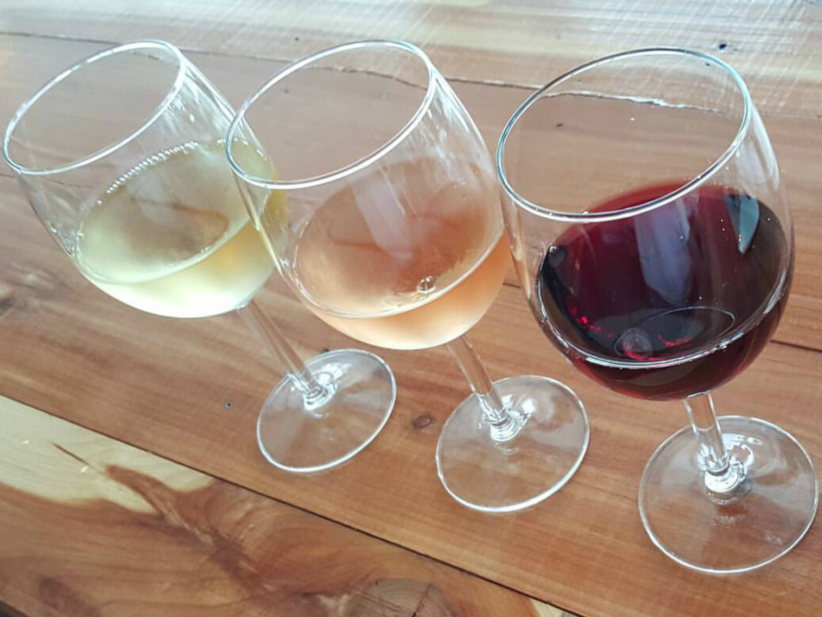 Nectar Wine Bar and Ale House happy hour glasses flight