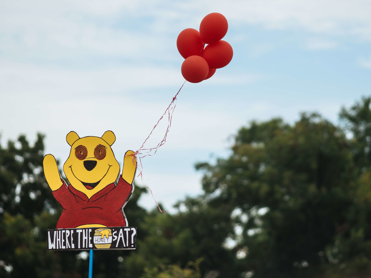 ACL Austin City Limits Music Festival 2016 flags Winnie the Pooh