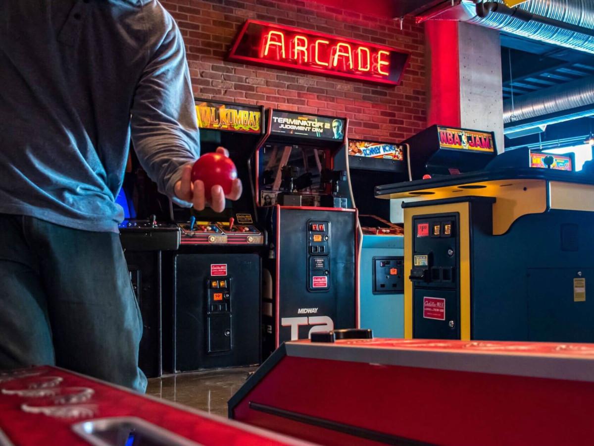 Punch Bowl Social arcade games skee ball